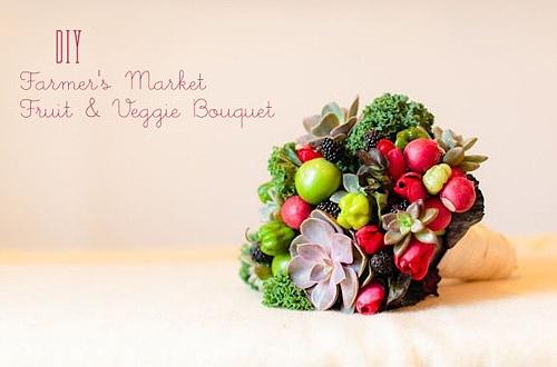 diy蔬菜花束_由多肉植物和时令蔬菜组成的DIY蔬果小花束_婚礼场地_ -关注 ...